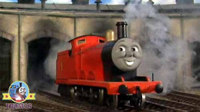 Sir Topham Hatt chose me red as a rocket and twice as grand train James the really splendid engine