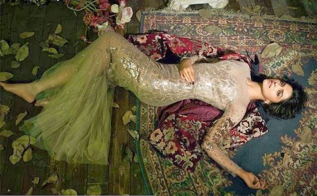 Deepika-Padukone-lying-on-the-floor-in-golden-gown-in-Vogue-Magazine