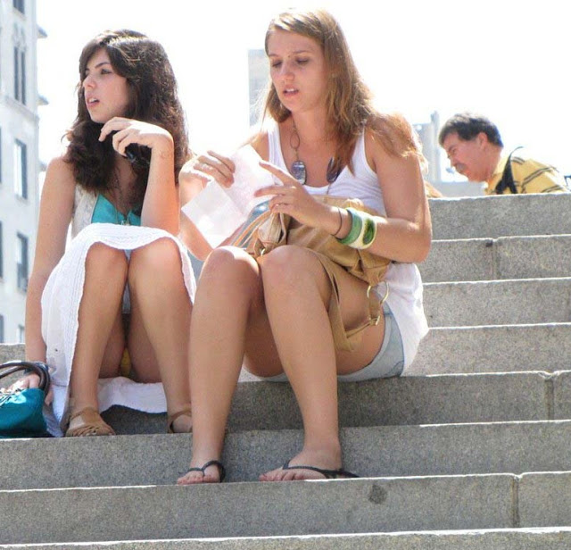 sitting upskirts public