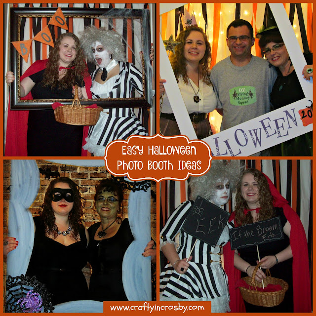 photo booth, diy polaroid photo booth frame, photo booth frame, Halloween photo booth, easy Halloween photo booth ideas
