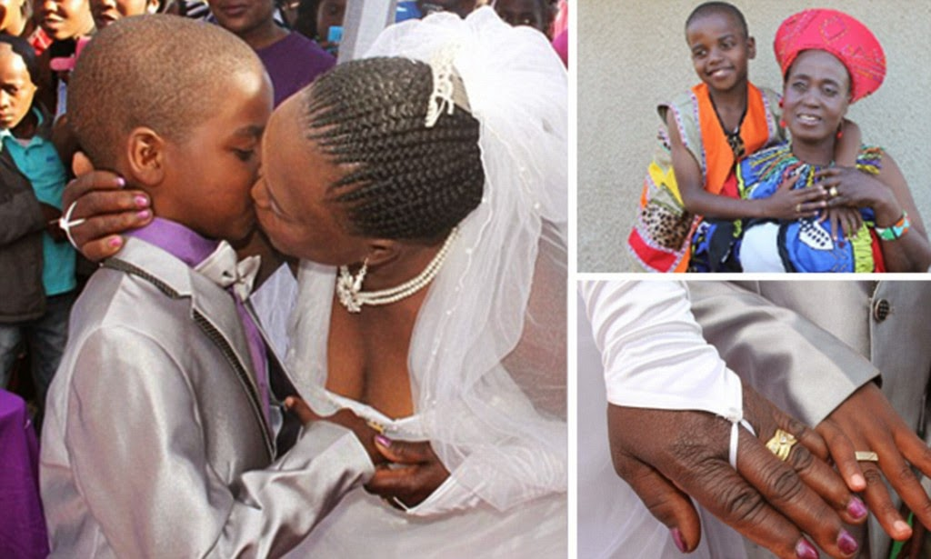 62-Year-Old Woman Marries 9-Year-Old Boy