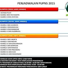 Jadwal Kerja Kelompok PUPNS  BKN 2015