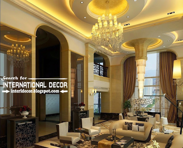 modern luxury pop false ceiling designs ideas 2015 led lighting for luxury living room interior