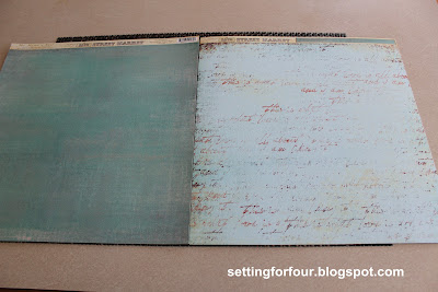 Script Scrapbook Paper from Setting for Four #paper