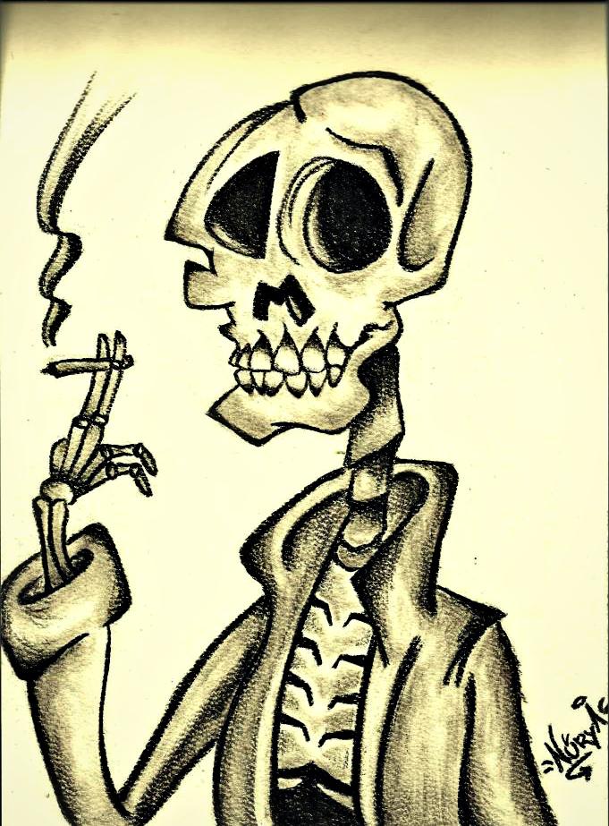 Lápiz de Carbón The smoke of death