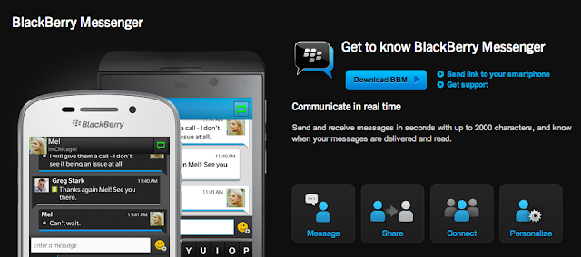 BBM for android and iOS coming soon page