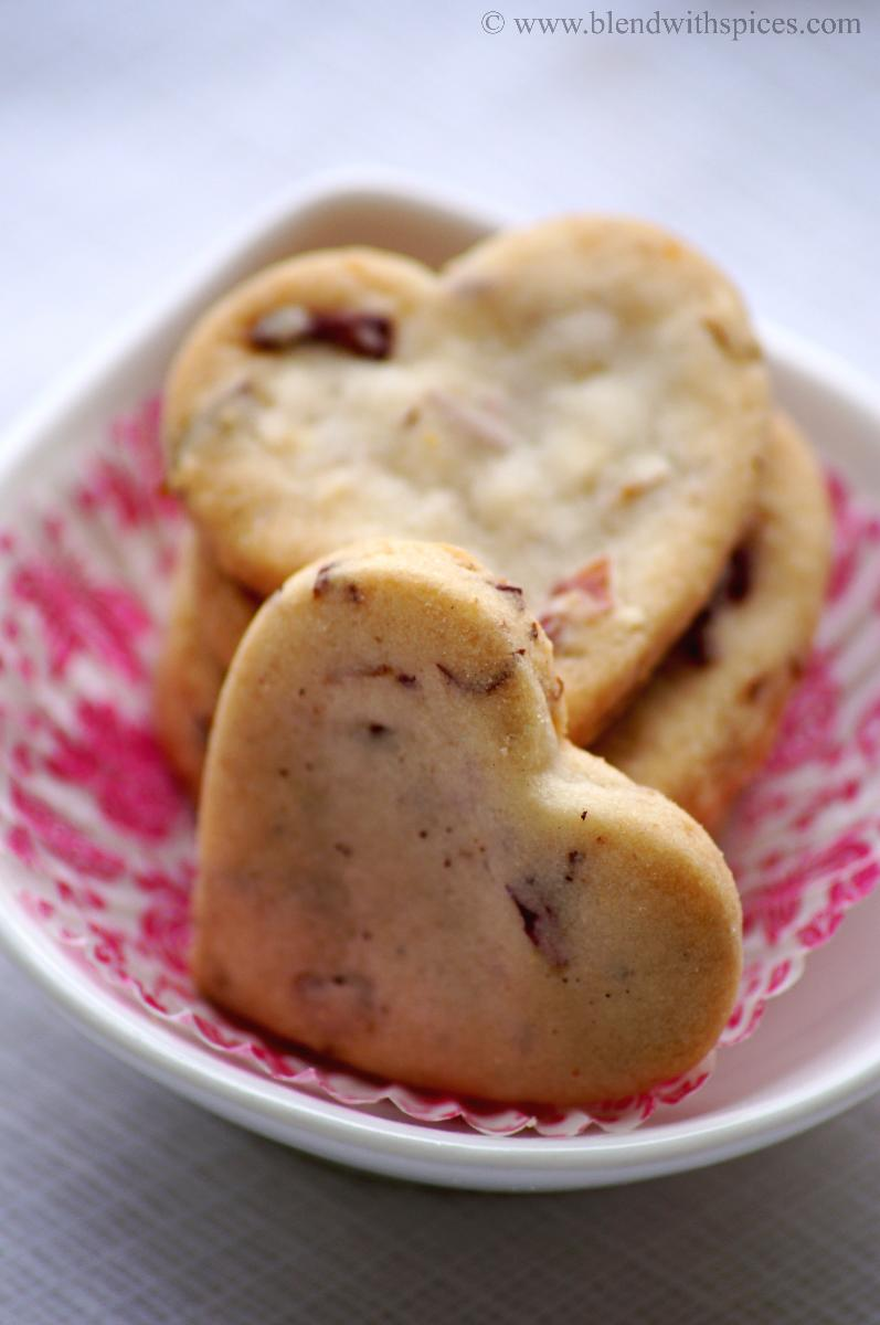 Rose Almond Cookies Recipe ~ Valentine's Day Special Recipes | Blend ...