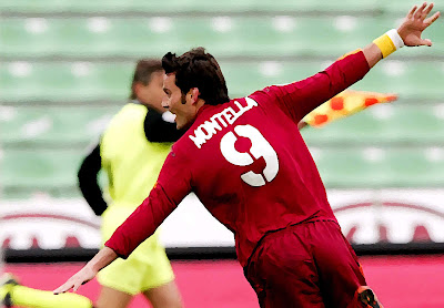 Vicenzo montella AS Roma goal celebrations wallpaper