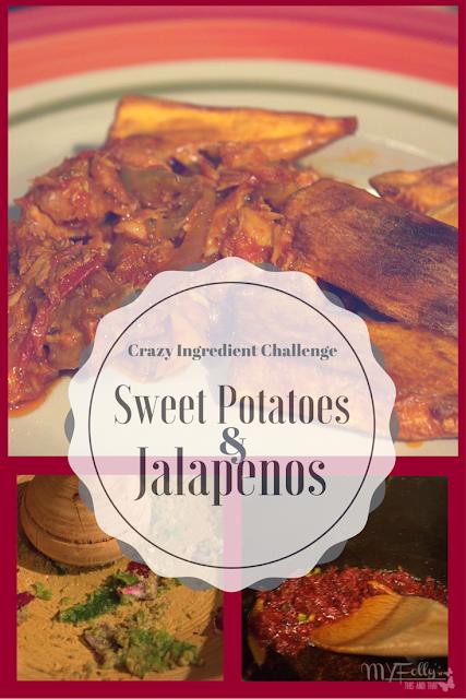 Sweet Potatoes and Jalapeno Salmon Sauce - Crazy Ingredient Challenge using Sweet Potato and Jalapenos.