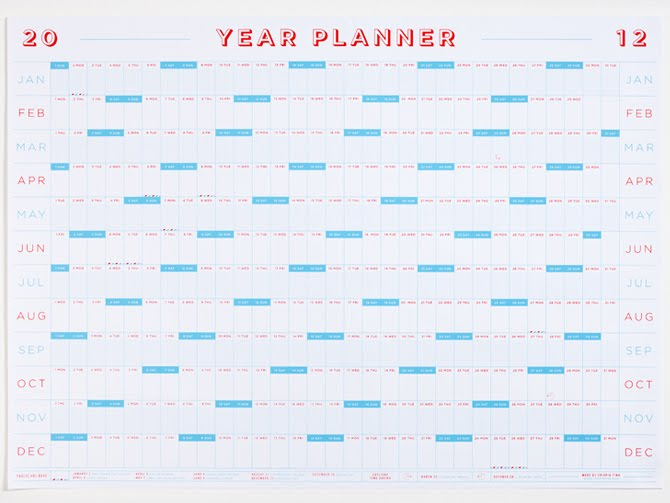 Jeri's Organizing & Decluttering News: 2012 Calendars: Final ...