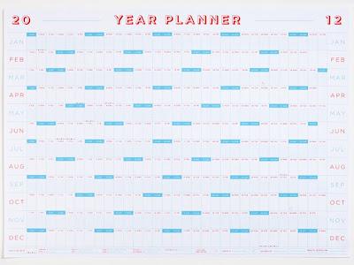 2012 full year calendar / planner
