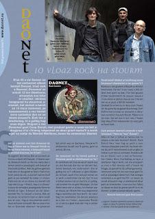 Chronique de l'album Donemat du groupe de rock breton Daonet dans la revue Breman