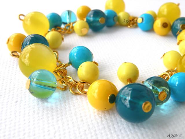 Bransoletka żółto-niebieska