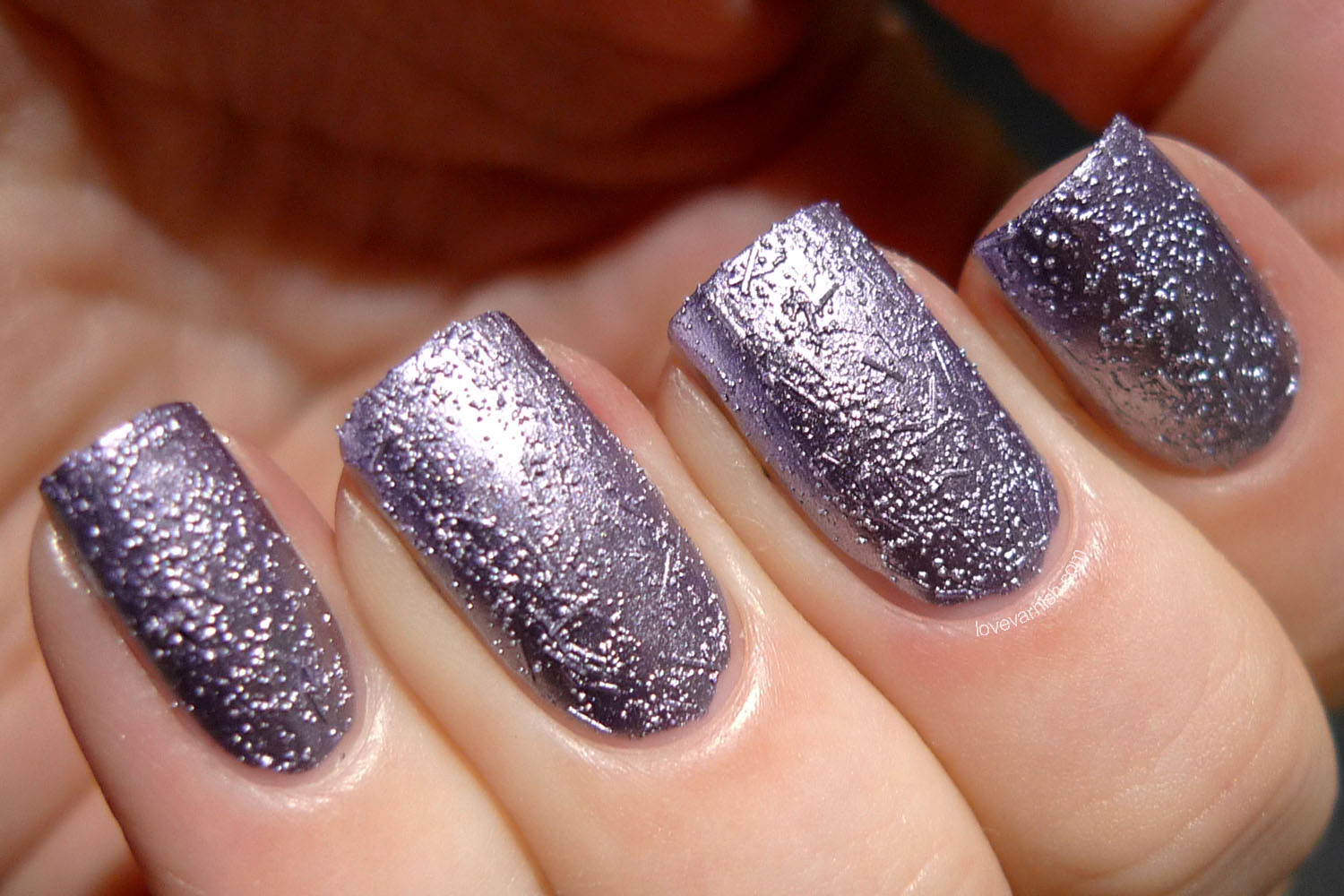 China Glaze Crinkle Chrome Crush Crush Baby lavender chrome texture