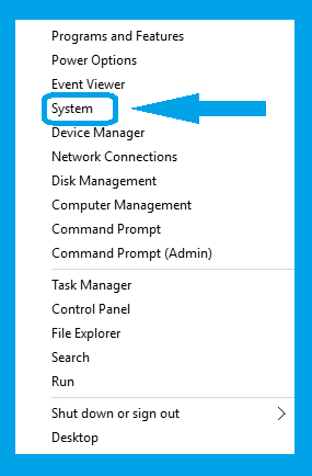 Windows-10, Advance System setting Screen-1