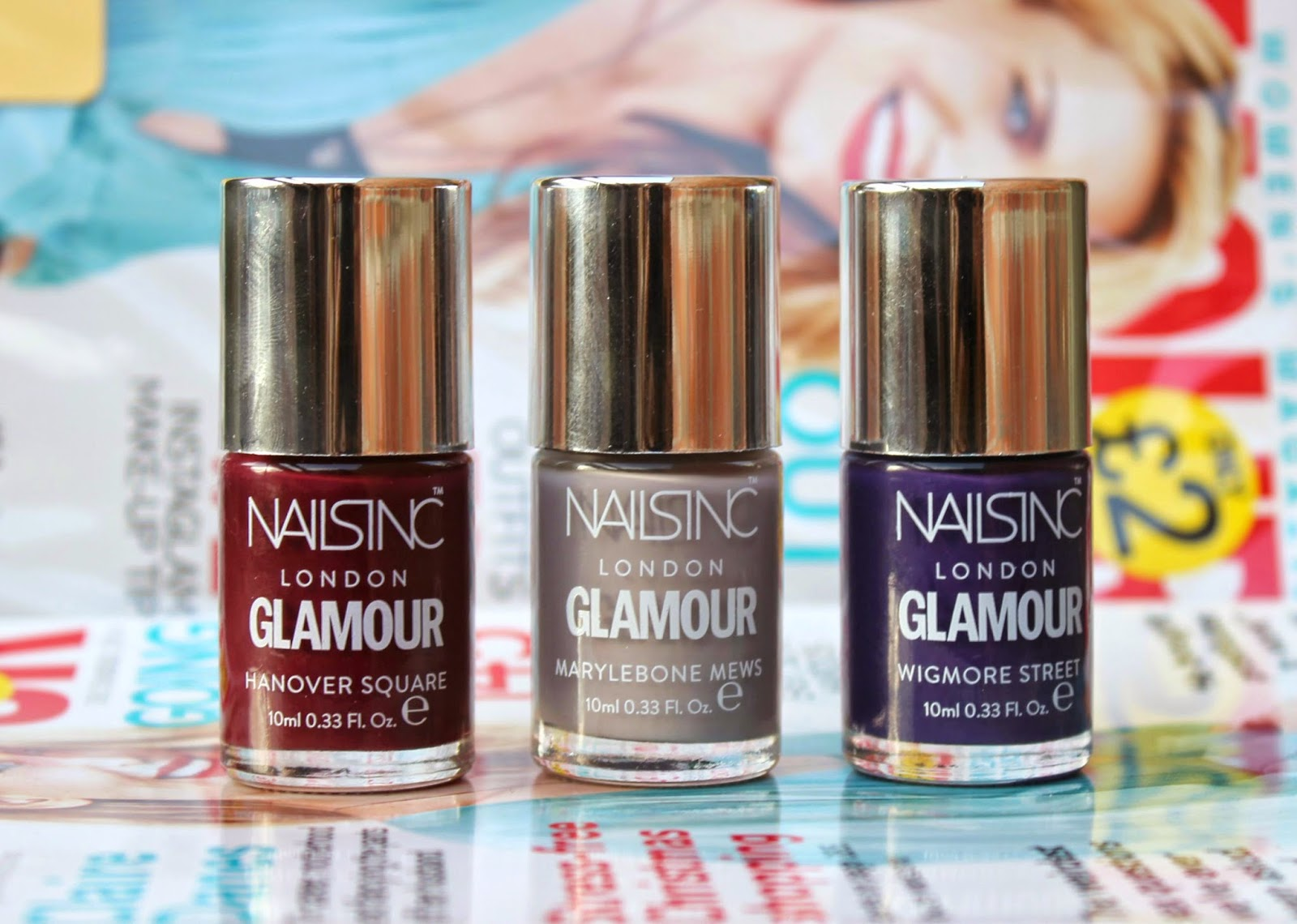 BEAUTY & LE CHIC: Free Nails Inc with December\'s Glamour Mag and ...