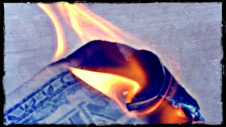 Money to burn, burning money