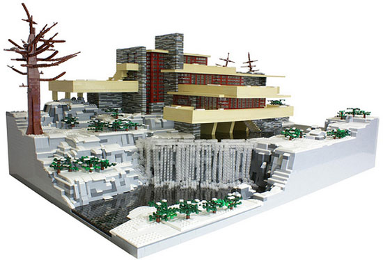 Frank lloyd wright in lego your home is lovely - Falling waters lego ...