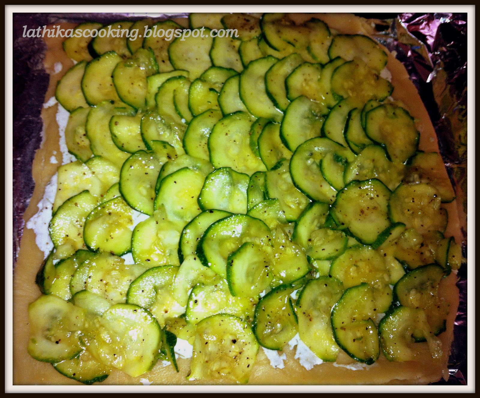 Lathika's Cooking: Zucchini tart with lemon thyme and goat ...