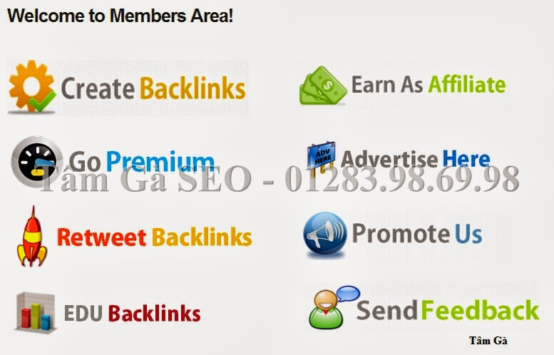 Welcome to Members Area Free Backlink Tool