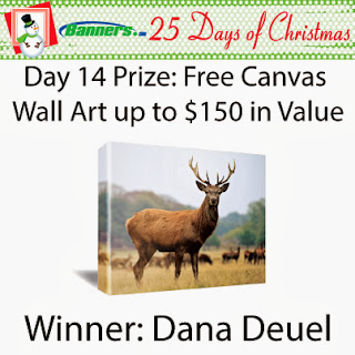 Banners.com 25 Days of Christmas Giveaway - Day 14 Winner