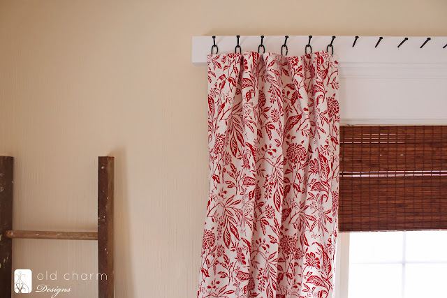With the rings and nails, the curtains hang so nicely. They have the ...