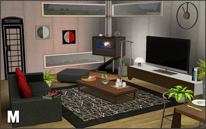 My sims 3 blog urpo living set by mango sims for 3 star living room chair sims