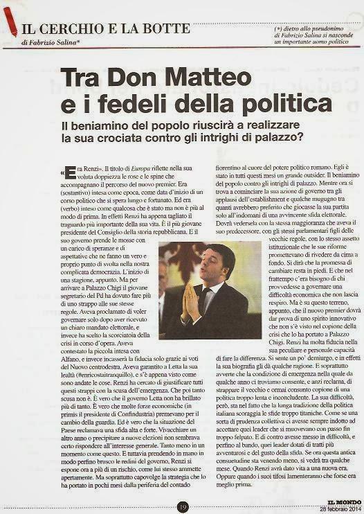 Tra Don Matteo e i fedeli della politica