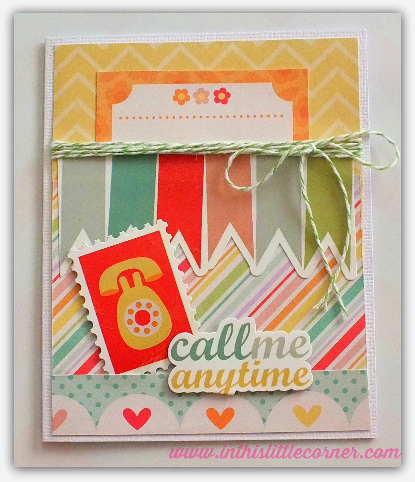 echo park best friends mini theme kit - tarjeta