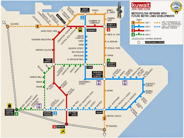 Map of Kuwait Metro