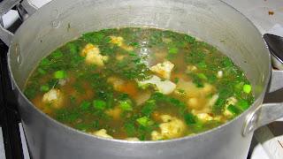 суп-пюре с сельдереем варится