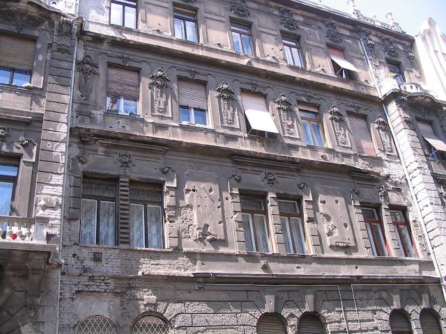 Budapest, VIII. kerület, golyónyomok, ruins, WWII, 1956, romok, házak