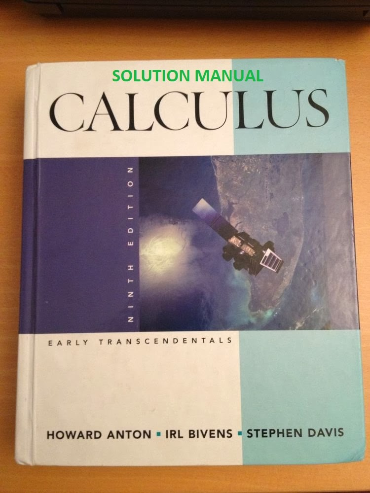 Solution Manual Calculus 9th Edition By Howard Anton
