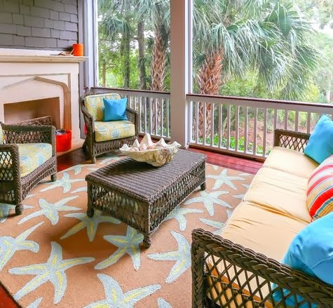starfish rug sun porch
