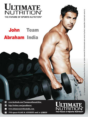 John Abraham New Print Ad for Ultimate Nutrition