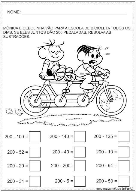 Subtração Simples Atividade Educação Infantil