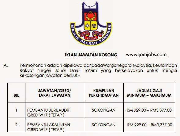 Iklan Jawatan Kosong MD Tangkak Johor 2015