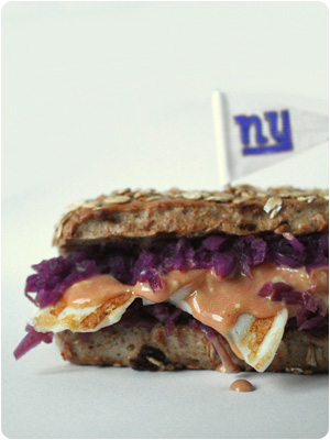 Vegetarian Reuben Super Bowl Sandwich