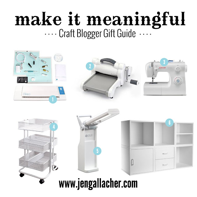 Craft Blogger Gift Guide with links found at www.jengallacher.com. Tools you CAN'T live without if you're a crafter.
