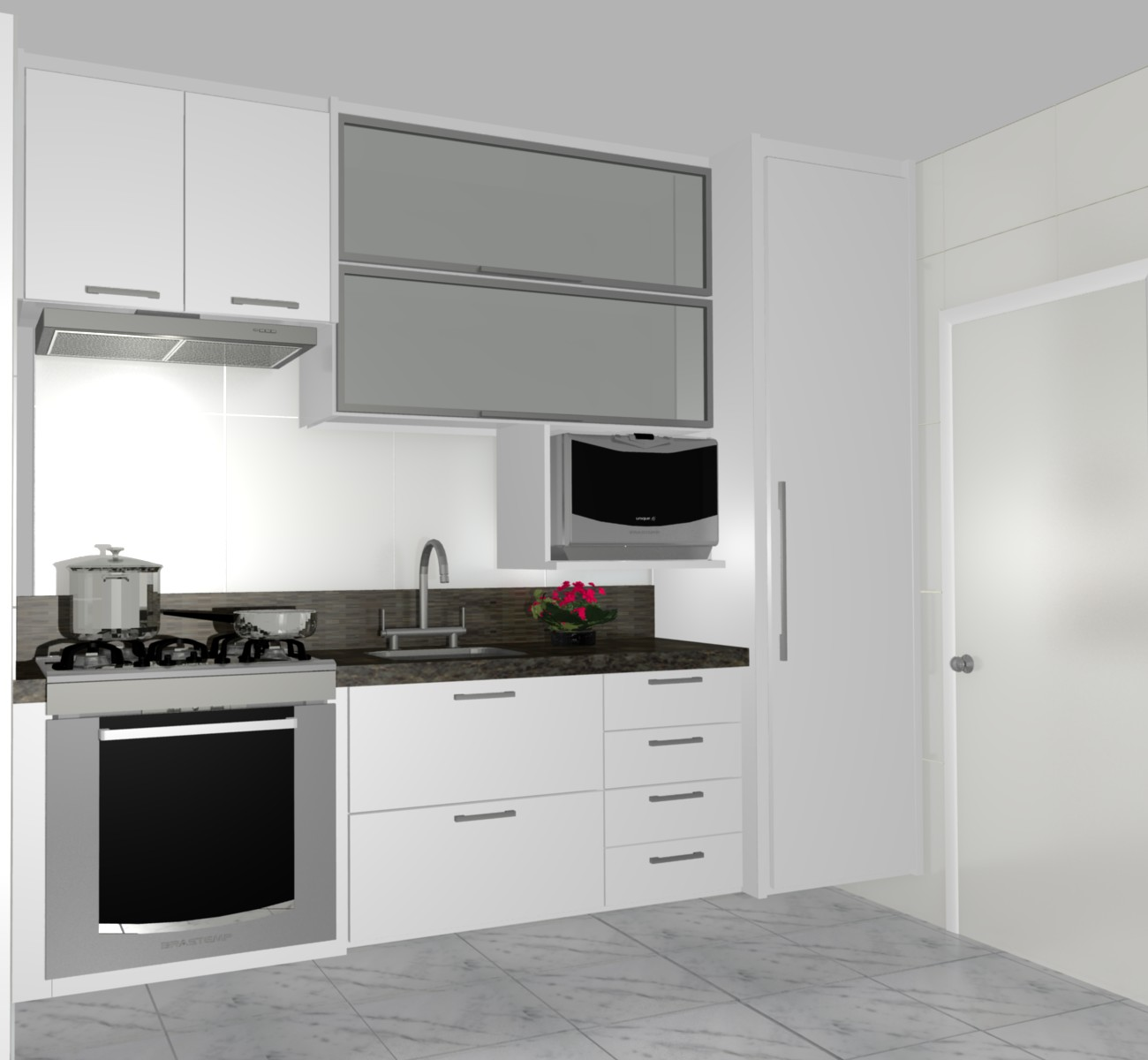 cozinha planejadas pequenas decorada americana modulada luxo moderna  #693840 1300 1200