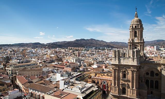 A Beautiful view of Malaga, Spain.
