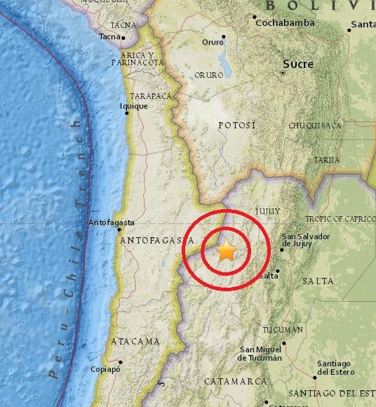 Magnitude 4.6 Earthquake of San Antonio de los Cobres, Argentina 2015-05-29