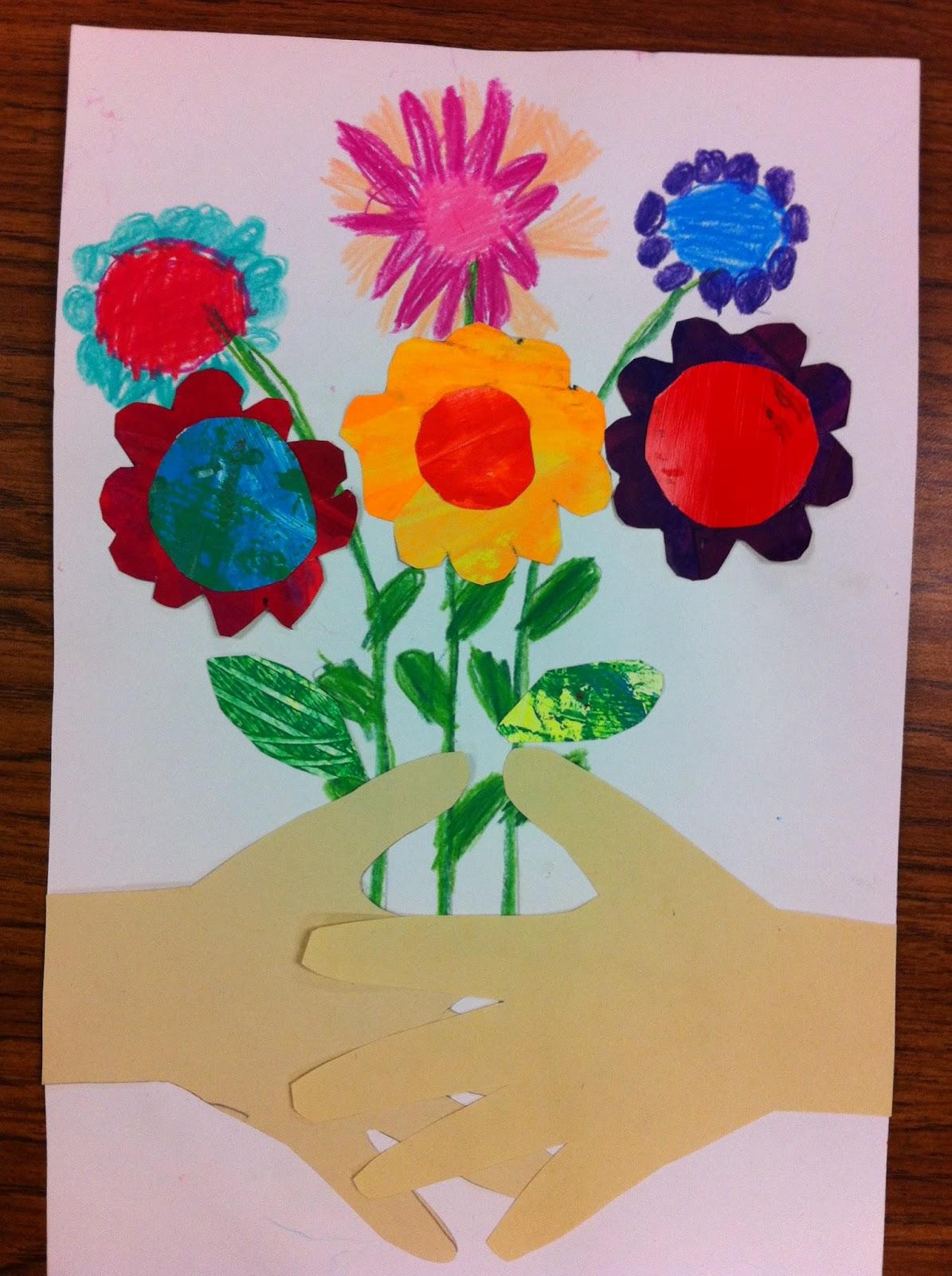 Drip Drip Splatter Splash Picassos Hands With Flowers Collage