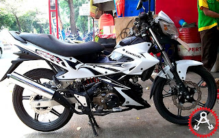 Modifikasi Kawasaki Athlete Body New Satria Fu