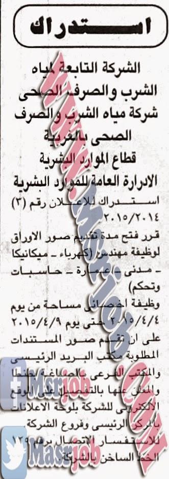 مياه الشرب والصرف الصحي بالغربية 2/4/2014