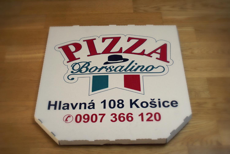 Pizza Borsalino - krabica za 0,70 €