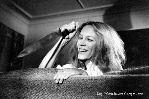 Jamie Lee Curtis behind the scenes of Halloween, 1978