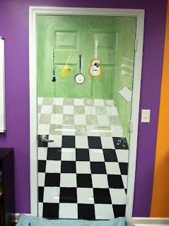 music door mural linoleum