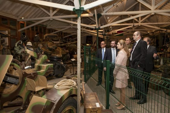 Hereditary Grand Duke Guillame and Hereditary Grand Duchess Stephanie of Luxembourg visited National Museum of Military History (Musee national s'Historie Militaire) in the city of Diekirch