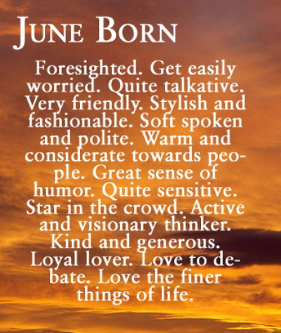 june born personalities qualities